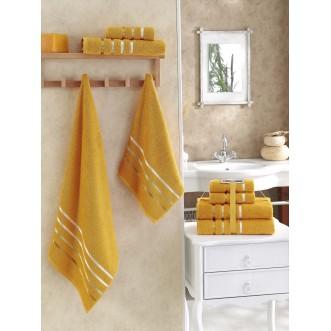 Набор махровых полотенец Bale темно желтый Karna