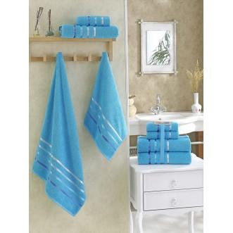 Набор махровых полотенец Bale бирюзовый Karna