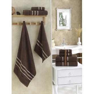 Набор махровых полотенец Bale коричневый Karna