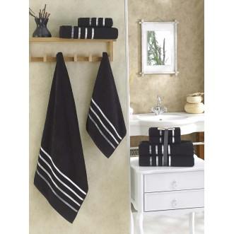Набор махровых полотенец Bale черный Karna