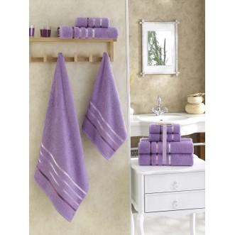 Набор махровых полотенец Bale сиреневый Karna