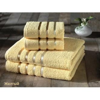 Набор махровых полотенец Bale желтый Karna