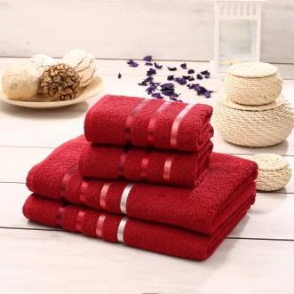 Набор махровых полотенец Bale красный Karna