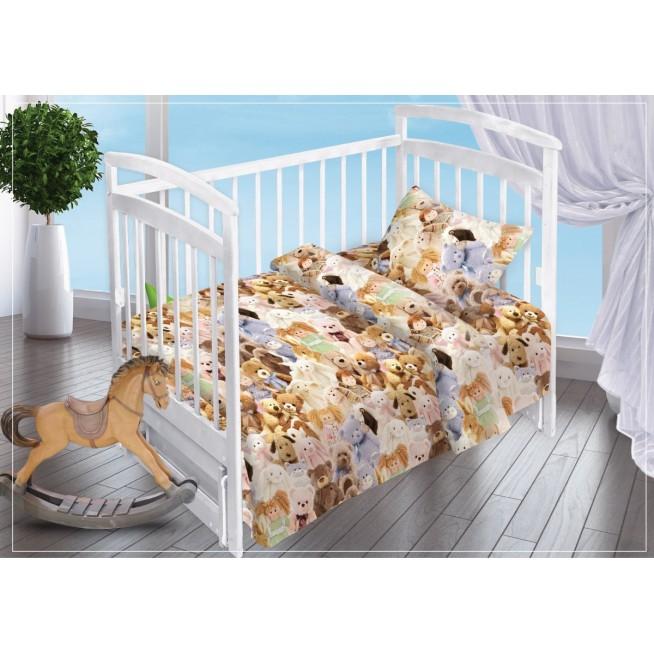 Постельное белье детское в кроватку поплин Вальтери Игрушки