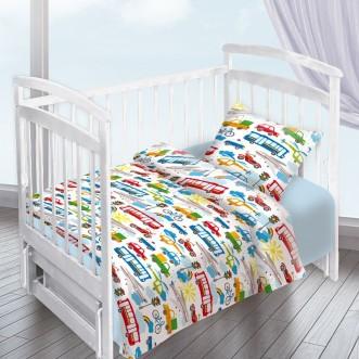 Постельное белье детское в кроватку поплин Вальтери Городское движение