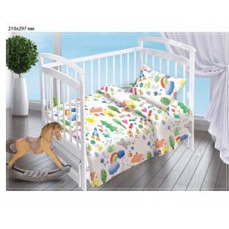Постельное белье детское в кроватку поплин Вальтери Радуга