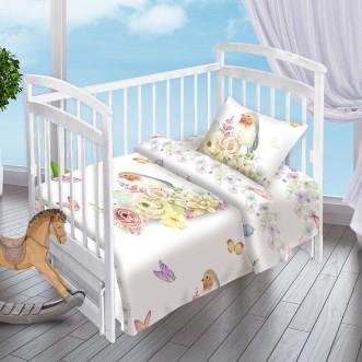 Постельное белье детское в кроватку поплин Вальтери Птичка