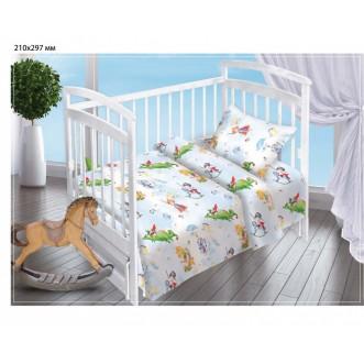 Постельное белье детское в кроватку поплин Вальтери Отважный герой