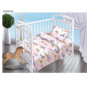 Постельное белье детское в кроватку поплин Вальтери Маленькая принцесса