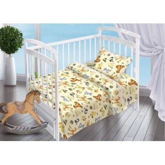 Постельное белье детское в кроватку поплин Вальтери Лесные Обитатели
