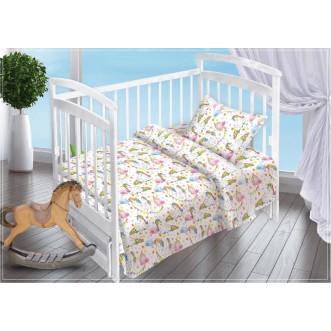 Постельное белье детское в кроватку поплин Вальтери Единороги