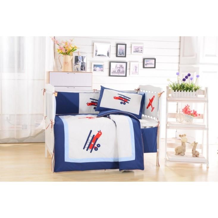 Набор в детскую кроватку с бортиком перкаль Вальтери DK-08-bort