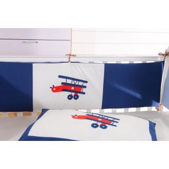 Набор в детскую кроватку с бортиком перкаль Вальтери DK-08-bort фото
