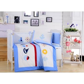 Набор в детскую кроватку с бортиком перкаль Вальтери DK-13-bort