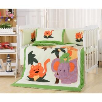 Набор в детскую кроватку с бортиком перкаль Вальтери DK-19-bort