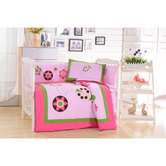 Набор в детскую кроватку с бортиком перкаль Вальтери DK-21-bort