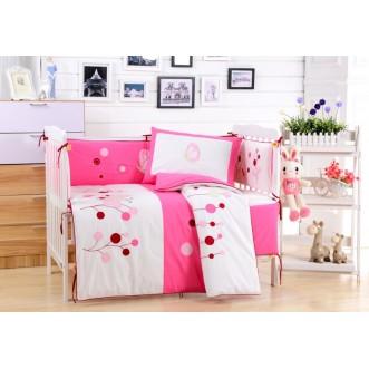 Набор в детскую кроватку с бортиком перкаль Вальтери DK-22-bort