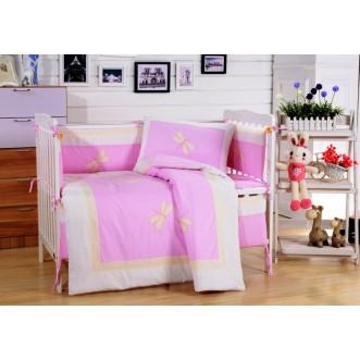 Набор в детскую кроватку с бортиком перкаль Вальтери DK-23-bort