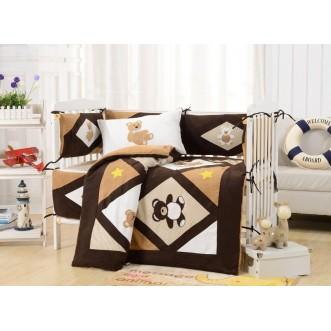 Набор в детскую кроватку с бортиком перкаль Вальтери DK-24-bort