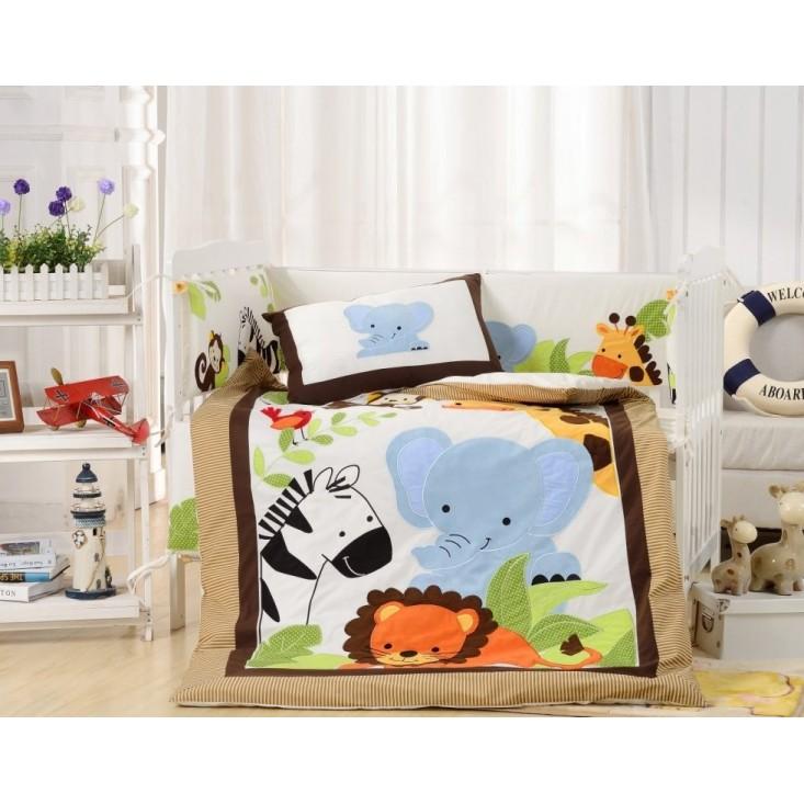 Набор в детскую кроватку с бортиком перкаль Вальтери DK-25-bort