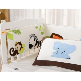 Набор в детскую кроватку с бортиком перкаль Вальтери DK-25-bort фото