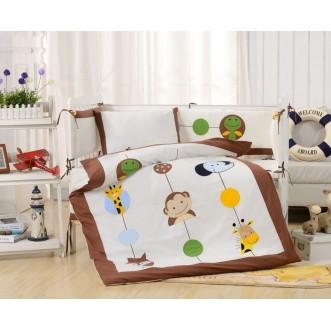 Набор в детскую кроватку с бортиком перкаль Вальтери DK-26-bort