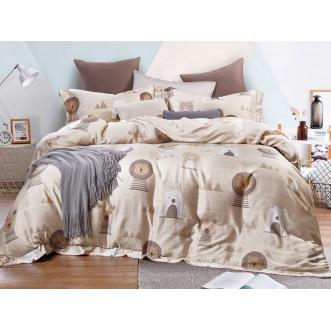 Постельное белье 1,5 спальный 145х205 тенсел Asabella Зверята