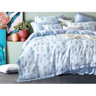 Постельное белье 1,5 спальный тенсел Asabella Голубые цветы