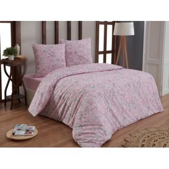 Постельное белье евро бязь Karna Rosina розовое