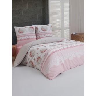 Постельное белье 2 спальное бязь Karna Alvia абрикосовое