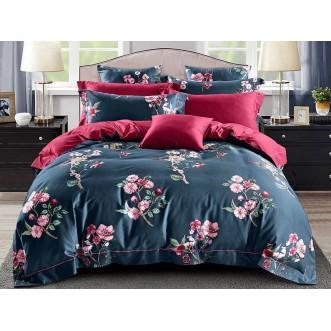 Постельное белье 1,5 спальное Люкс мако-сатин Asabella Чайная роза