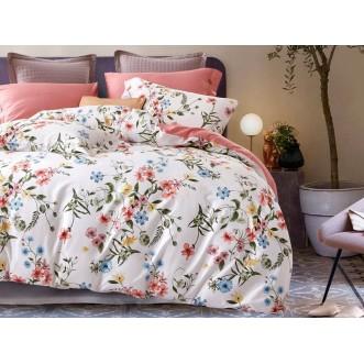 Постельное белье 1,5 спальное Люкс мако-сатин Asabella Цветущее поле