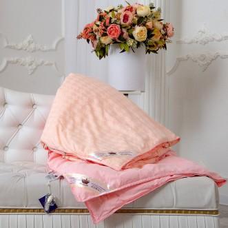 Одеяло шелковое 1,5 спальное 140х205 теплое KingSilk Elisabette Элит персиковое E-140-1,3-Per