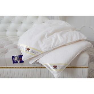 Одеяло шелковое 1,5 спальное 150х210 всесезонное KingSilk Elisabette Элит белое E-150-1-Bel
