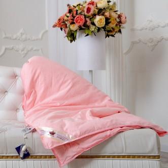 Одеяло шелковое 1,5 спальное 150х210 всесезонное KingSilk Elisabette Элит розовое E-150-1-Roz