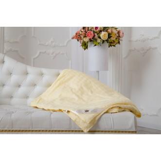 Одеяло шелковое евро 200х220 легкое KingSilk Elisabette Элит бежевое E-200-0,9-Bej