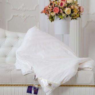 Одеяло шелковое евро 200х220 всесезонное KingSilk Elisabette Элит белое E-200-1,3-Bel