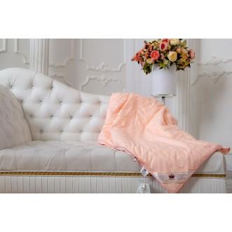 Одеяло шелковое евро макст 220х240 всесезонное KingSilk Elisabette Элит персиковое E-220-1,5-Per