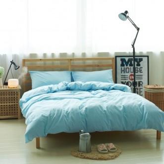 Постельное белье 2 спальное лен с хлопком Valtery Organic LE-10