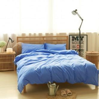 Постельное белье 2 спальное лен с хлопком Valtery Organic LE-08
