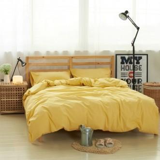 Постельное белье 2 спальное лен с хлопком Valtery Organic LE-07