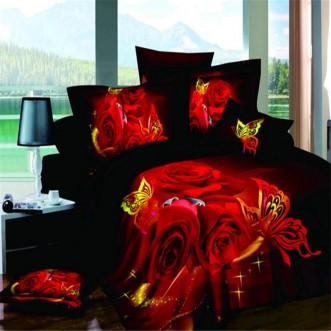Постельное белье 3D мако-сатин D086 семейное СИТРЕЙД