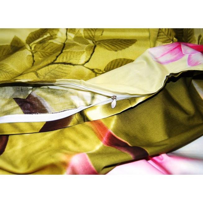3D мако-сатин белье постельное D102 евро СИТРЕЙД