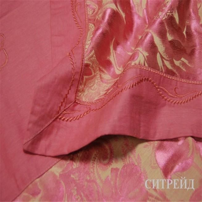 Белье постельное жаккард с вышивкой H022 семейный Дуэт СИТРЕЙД