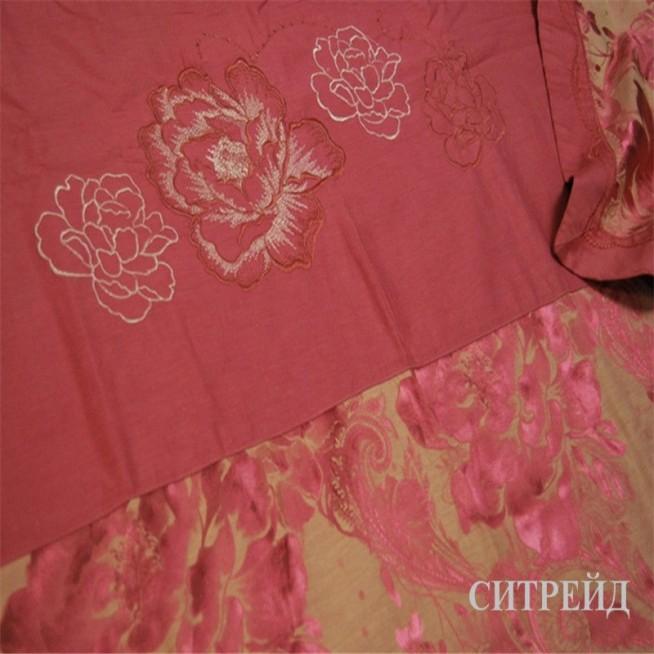 Подарочный жаккард с вышивкой белье постельное H022 семейный Дуэт СИТРЕЙД