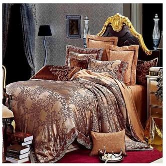 Постельное белье жаккард с вышивкой H017 2 спальное СИТРЕЙД