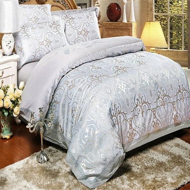 Постельное белье жаккард с вышивкой H019 2 спальное СИТРЕЙД