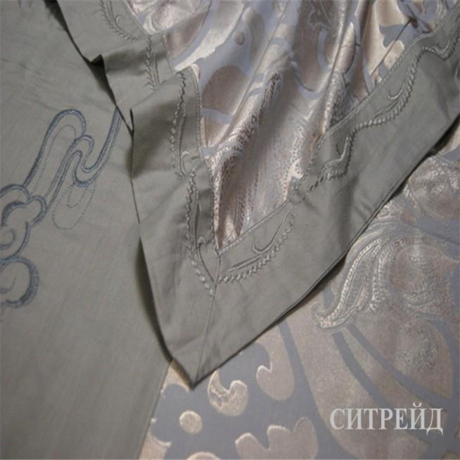 Подарочный жаккард с вышивкой белье постельное H019 2 спальное СИТРЕЙД