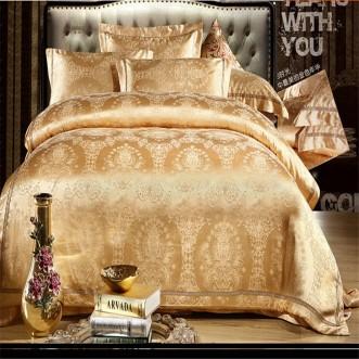 Постельное белье жаккард с вышивкой H025 2 спальное СИТРЕЙД