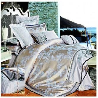 Постельное белье жаккард с вышивкой H029 2 спальное СИТРЕЙД